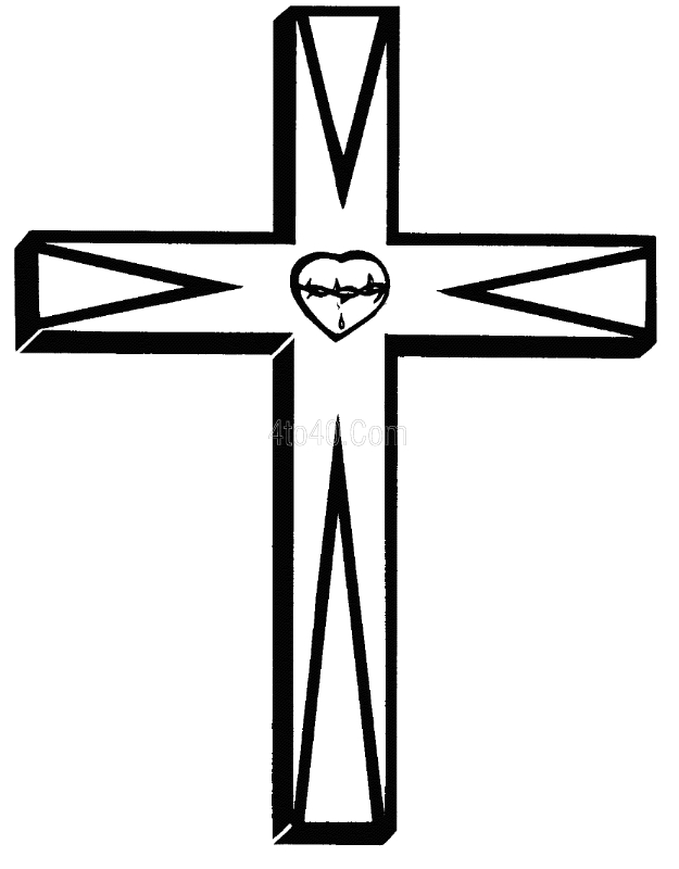 bible verse coloring pages - jesus on the cross cartoon