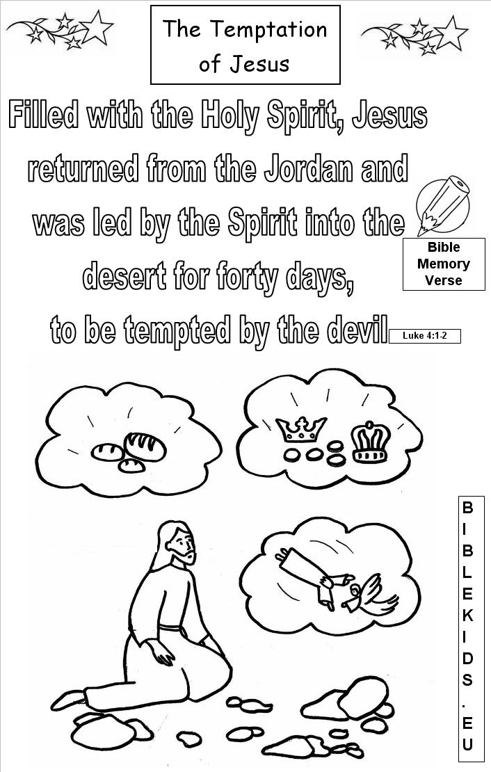bible verse coloring pages - temptation jesus verse 1