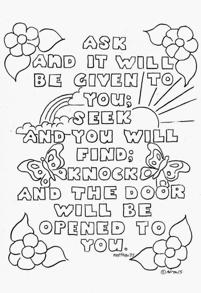 20 Bible Verse Coloring Pages For Adults Images Free Coloring