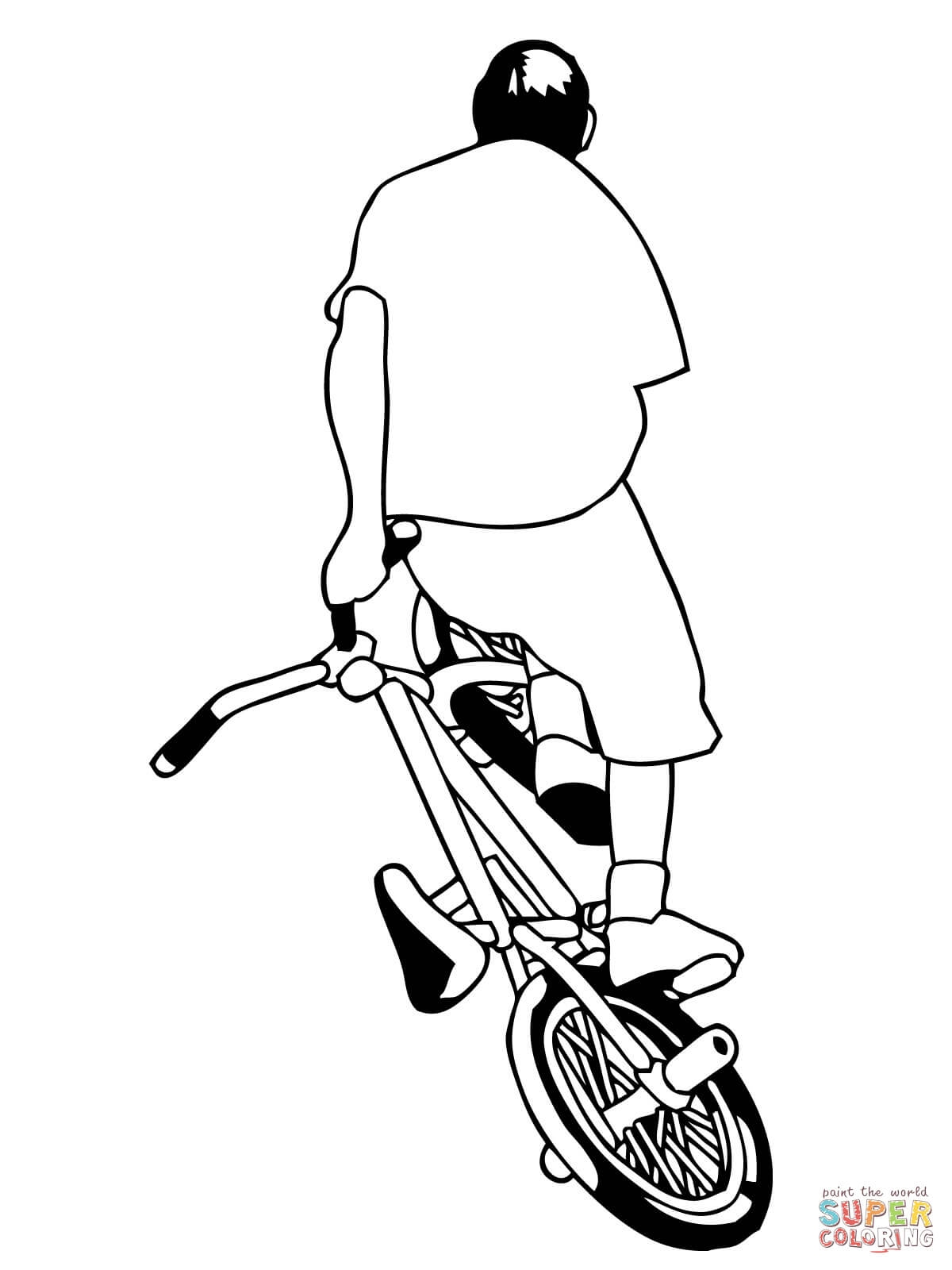 Bicycle Coloring Page - Ausmalbild Bmx Fahrrad