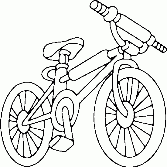 bicycle coloring page - bike coloring page