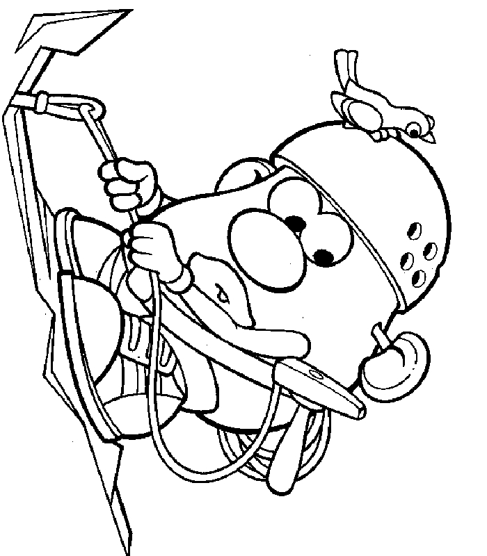 bicycle coloring page - coloriage MonsieurPatate 0