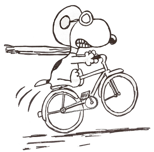 bicycle coloring page -