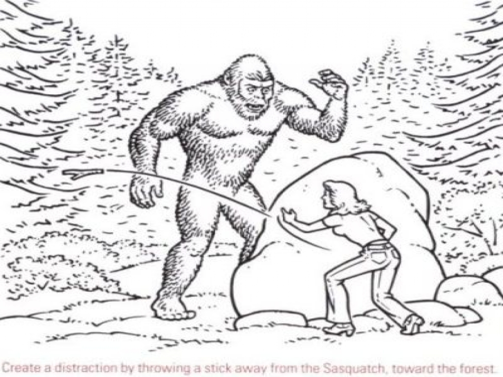 Bigfoot Coloring Page - Bigfoot Coloring Pages Coloring Home