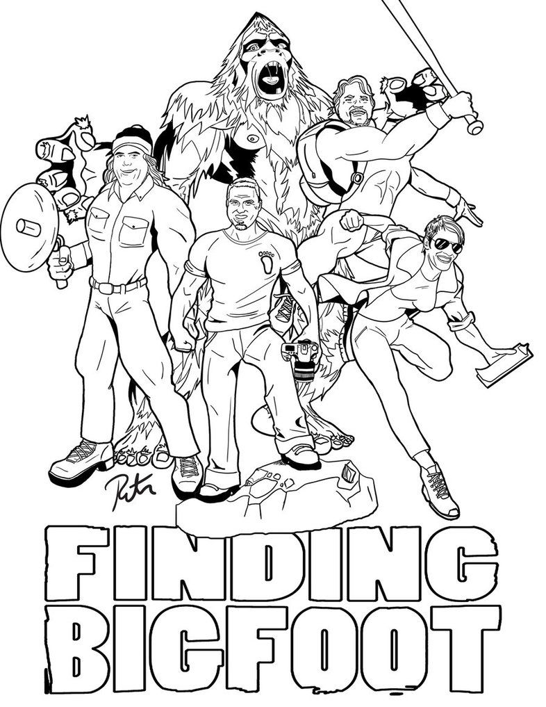 bigfoot coloring page - finding bigfoot coloring pages