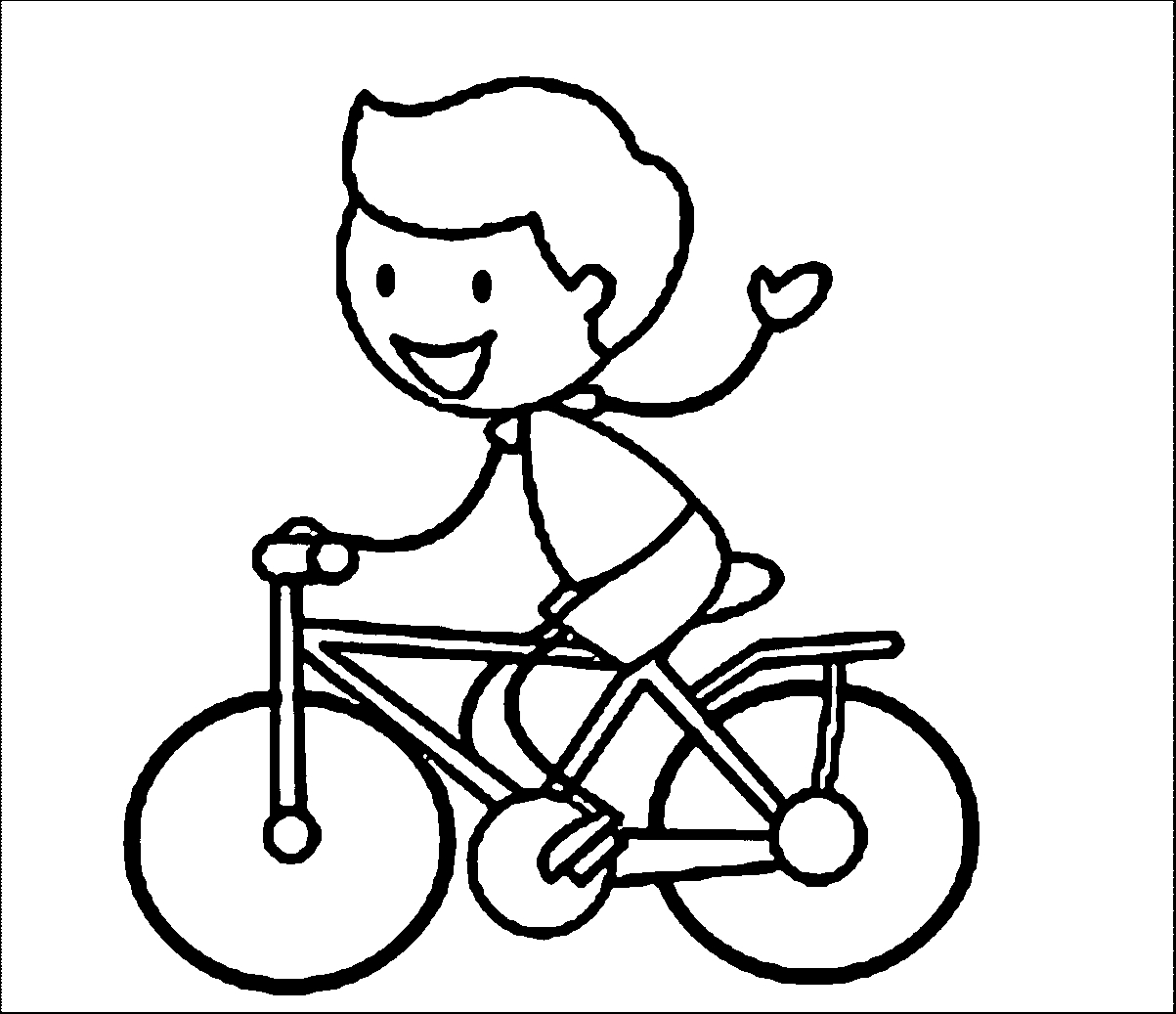 bike coloring pages - bike riding coloring page