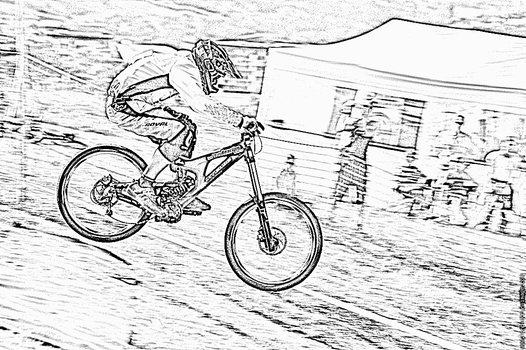 bike coloring pages - coupe regionale de dh vtt de descente du grand spectacle
