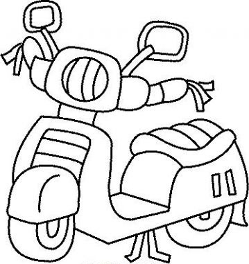 bike coloring pages - dibujos para colorear motos