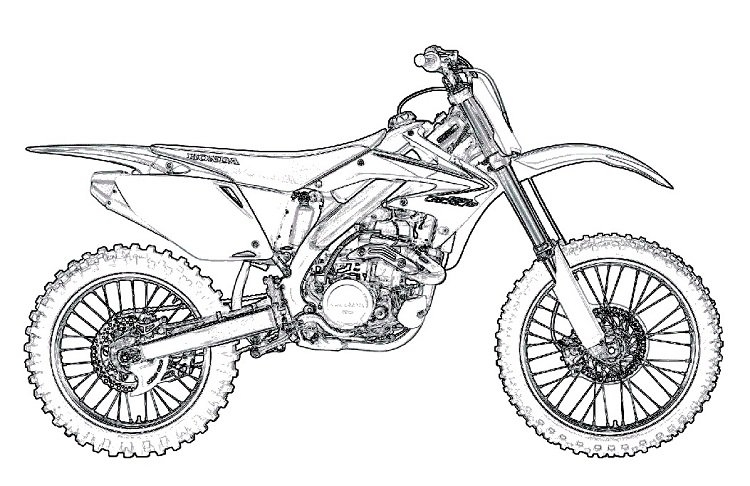 bike coloring pages - dirt bike guide
