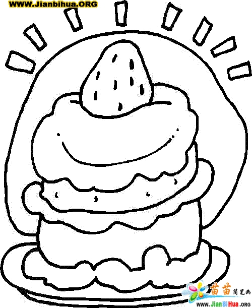birthday cake coloring page - 1913 22