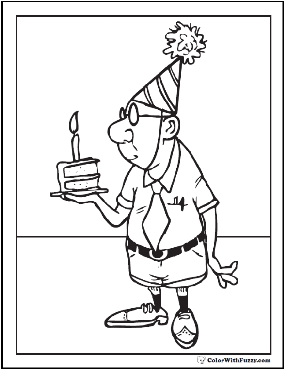 Birthday Card Coloring Page - 55 Birthday Coloring Pages Customizable Pdf