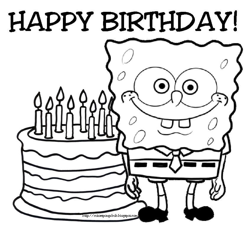 birthday coloring pages - birthday card coloring pages