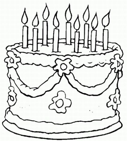 birthday coloring pages - birthday coloring pages
