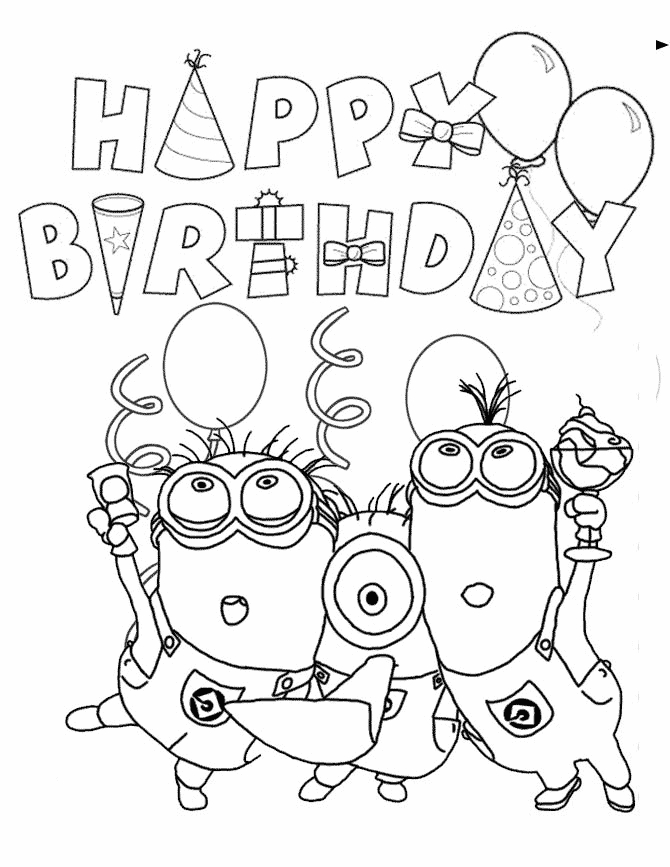 birthday coloring pages - happy birthday coloring pages
