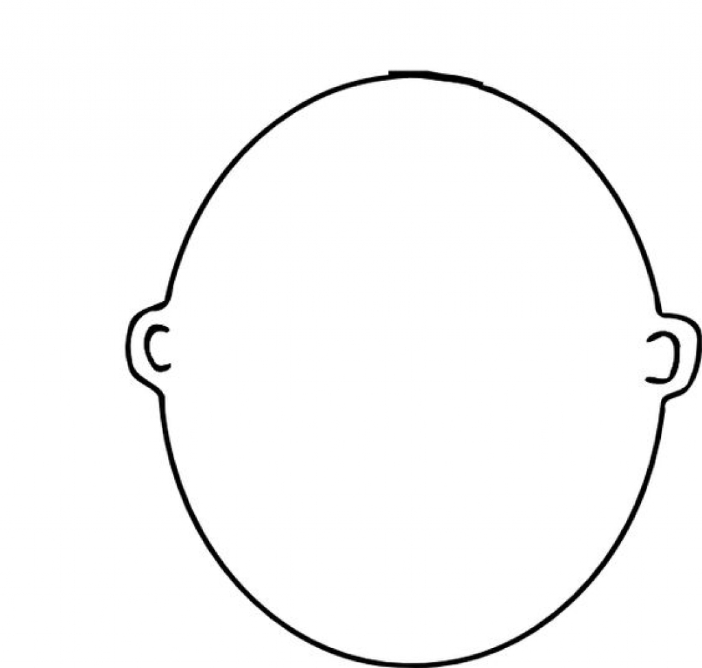 blank coloring pages - blank face coloring page regarding residence