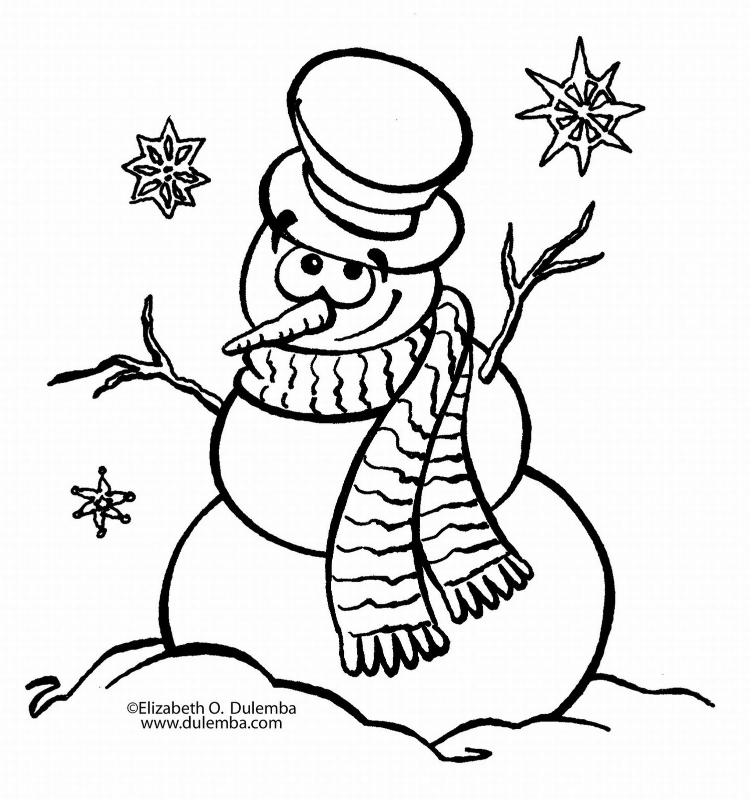 blank coloring pages - blank snowman coloring pages