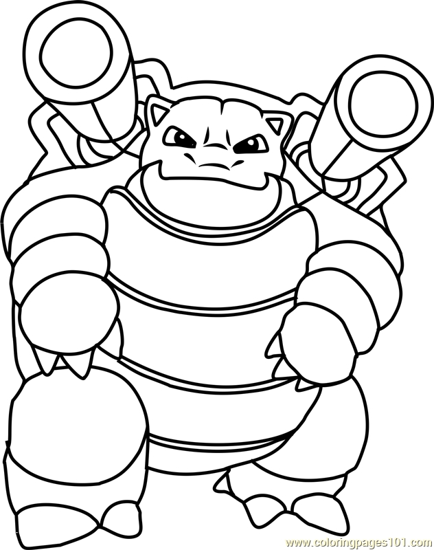 blastoise coloring page - blastoise pokemon coloring page