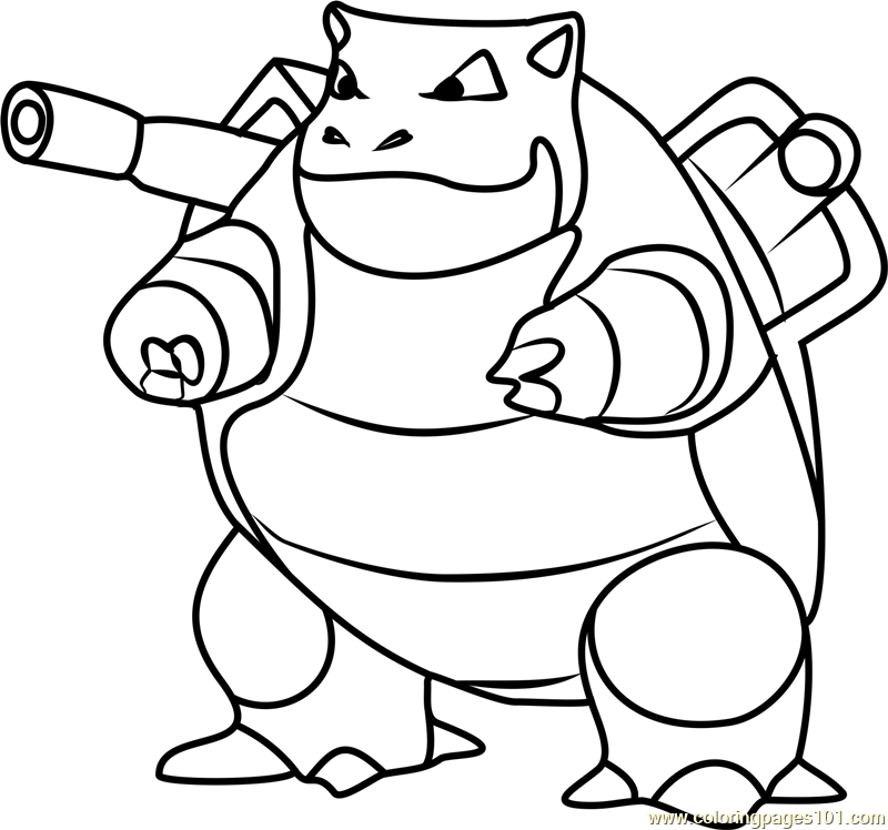 blastoise coloring page - blastoise pokemon go coloring page