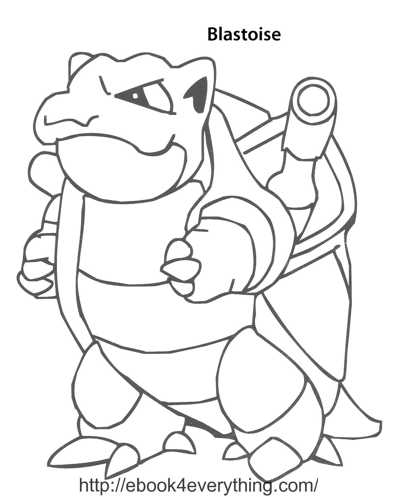 20 Blastoise Coloring Page Images Free Coloring Pages Part 2