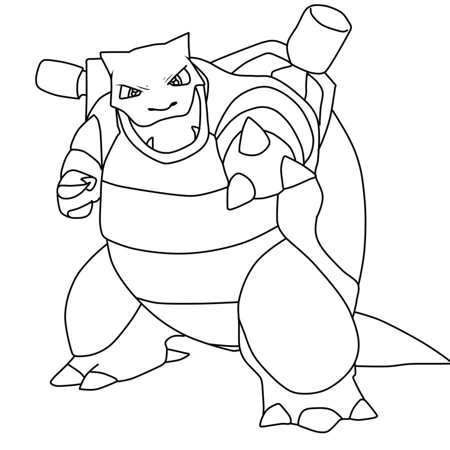blastoise coloring page - pokemon blastoise coloring pages images