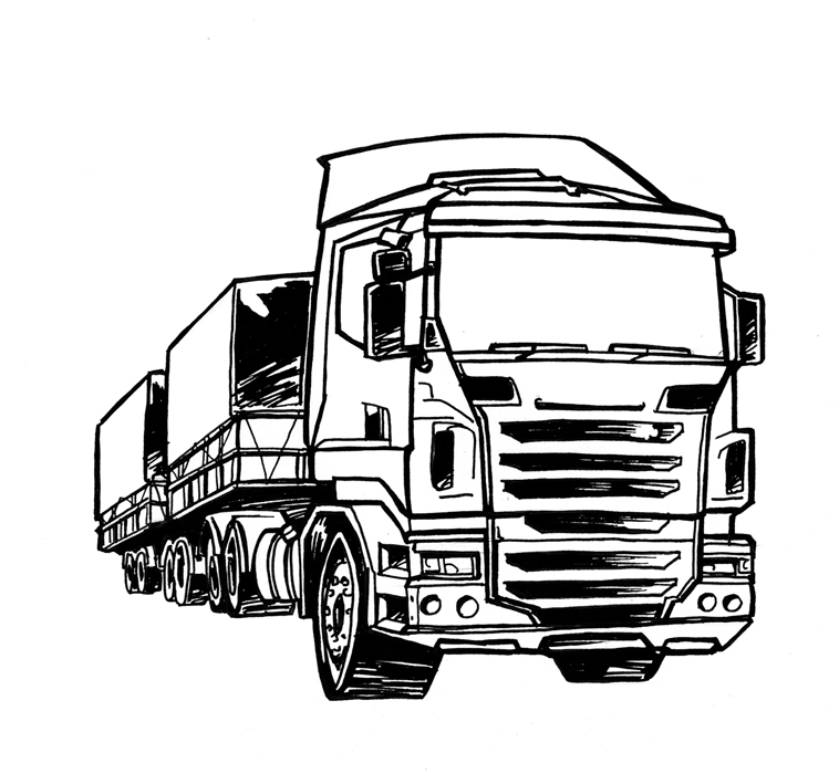 blaze coloring pages - scania