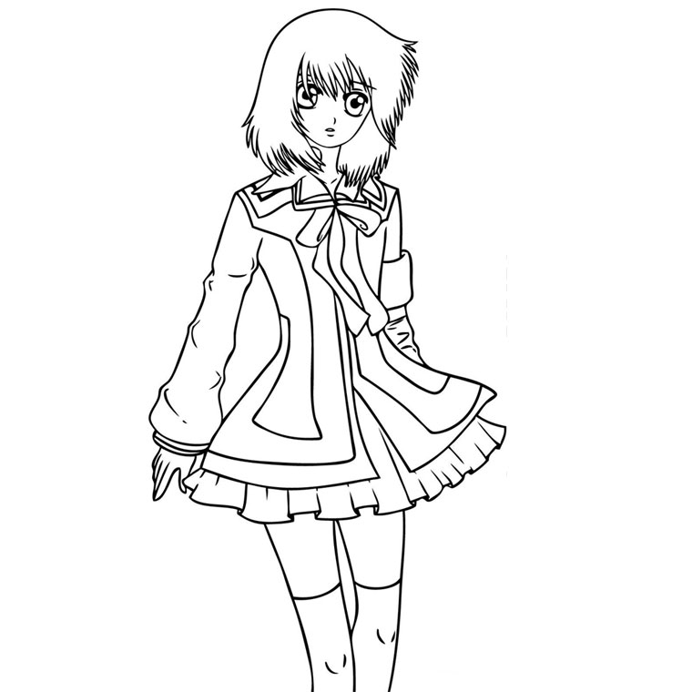 bleach coloring pages - manga fille
