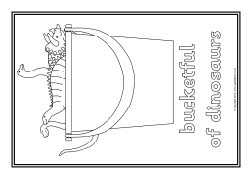 blue coloring pages - sb8601 harry and bucketful dinosaurs coloring pages