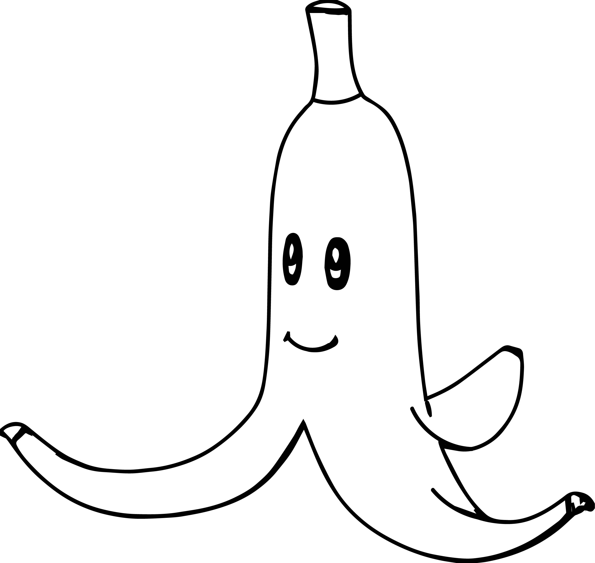 blue coloring pages - super mario bros banana coloring page
