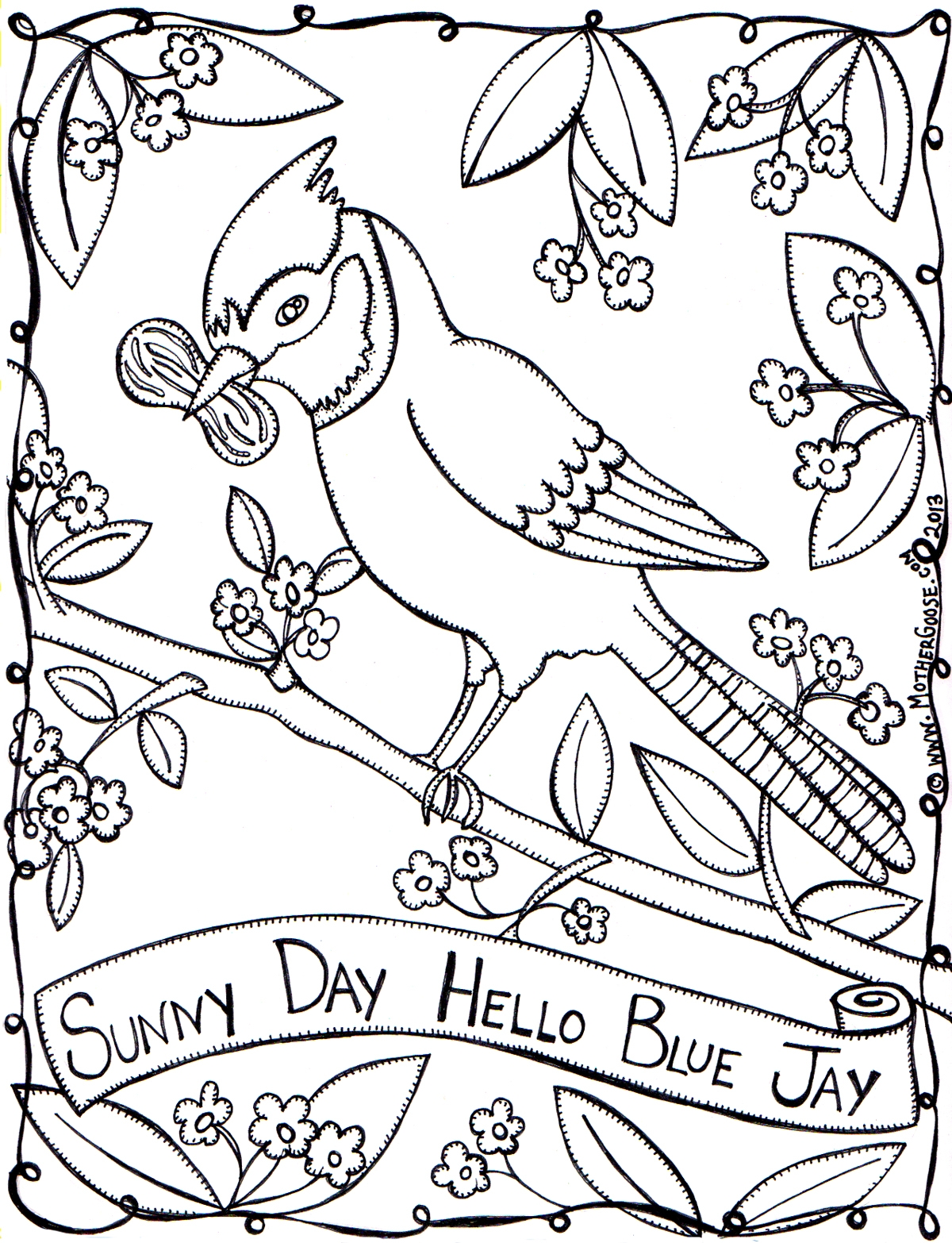 28 Blue Jay Coloring Page Printable | FREE COLORING PAGES - Part 3