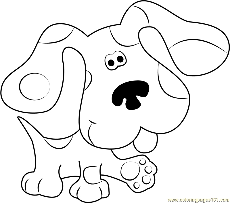 blues clues coloring pages - blues clues walking coloring page