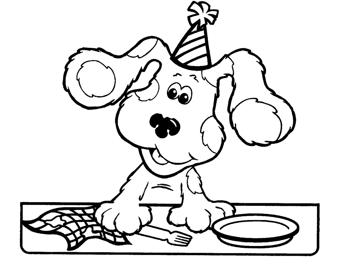 Blues Clues Coloring Pages - Free Printable Blues Clues Coloring Pages for Kids