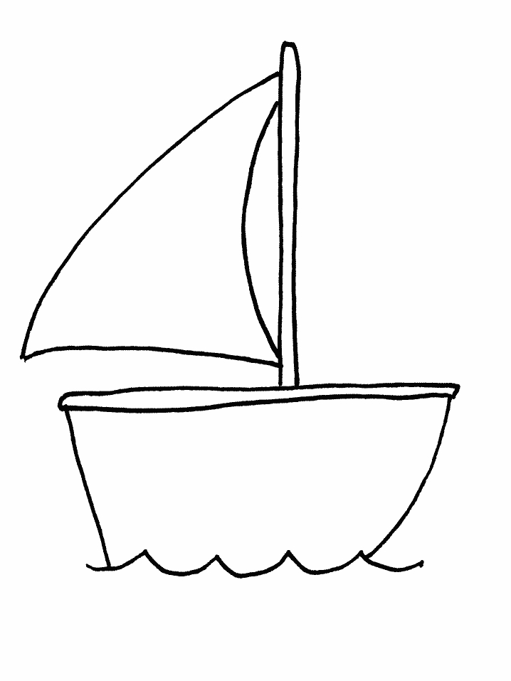 boat coloring pages - boat transportation coloring pages
