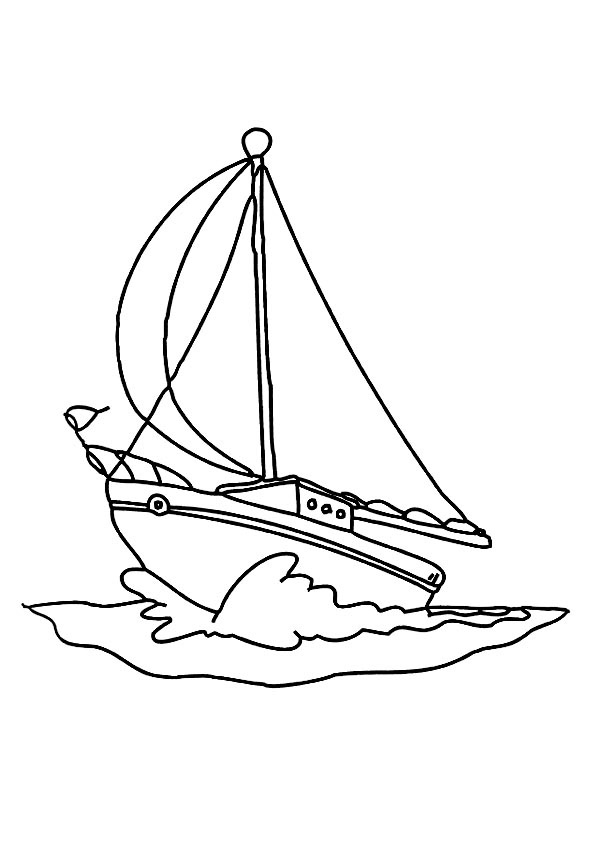 boat coloring pages - q=a simple boat