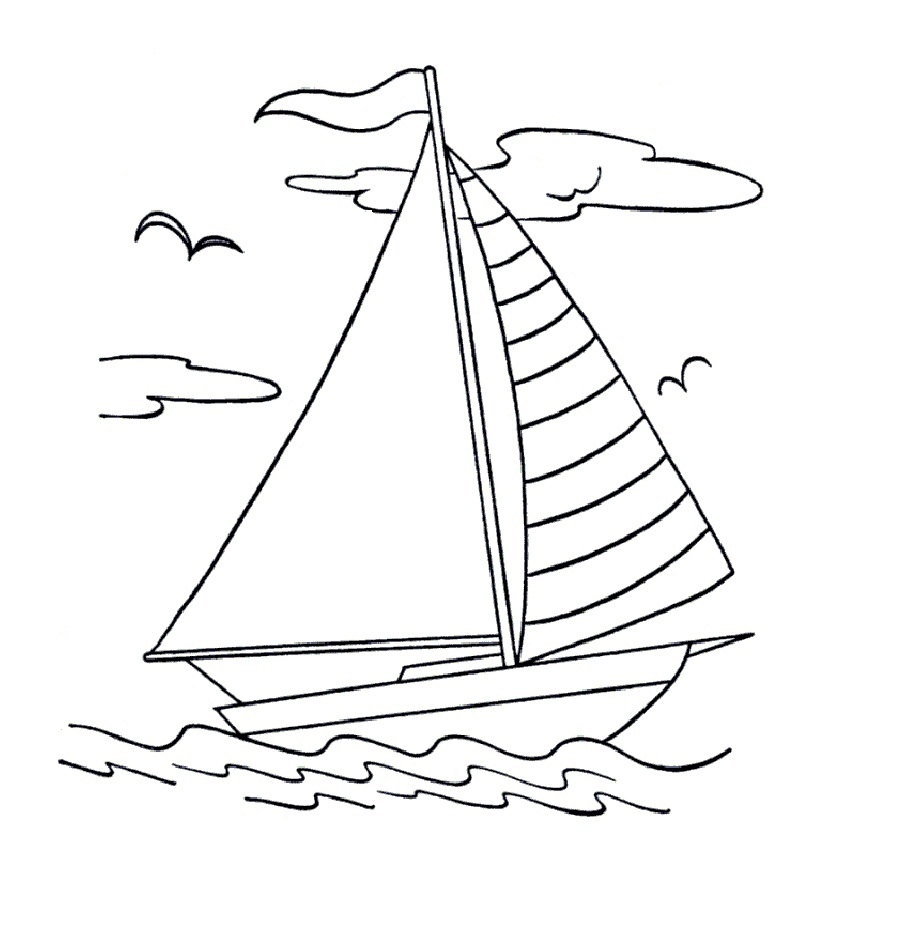 boat coloring pages - boat coloring pages