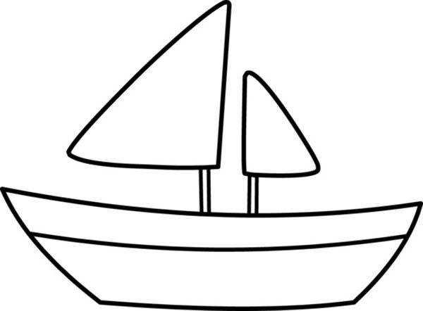 boat coloring pages boat coloring pages - Boat Coloring Page 2