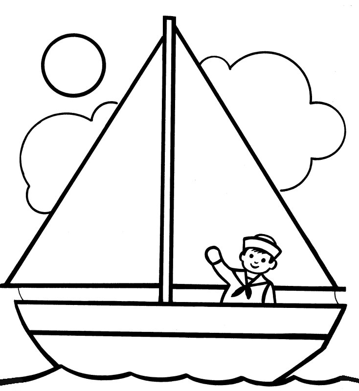 Boat Coloring Pages - Printable Boat Coloring Pages
