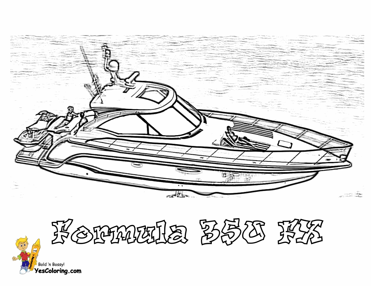 boat coloring pages - boat coloring page