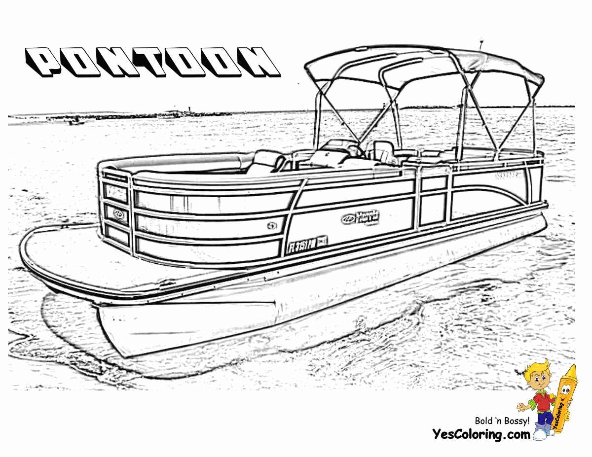 Boats coloring pages