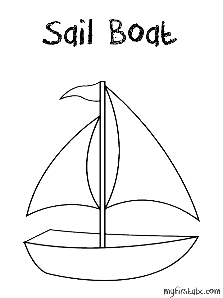 boat coloring pages - sail boat coloring page