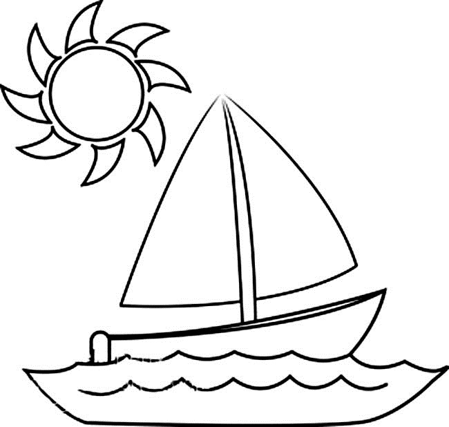 boat coloring pages - 2