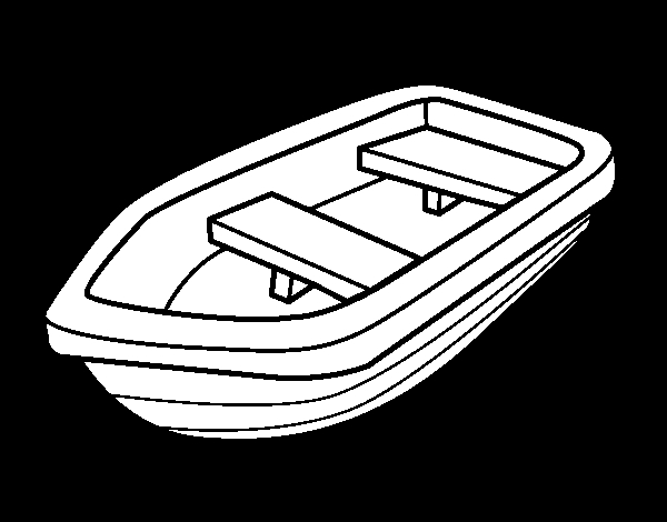 boat coloring pages - small boat