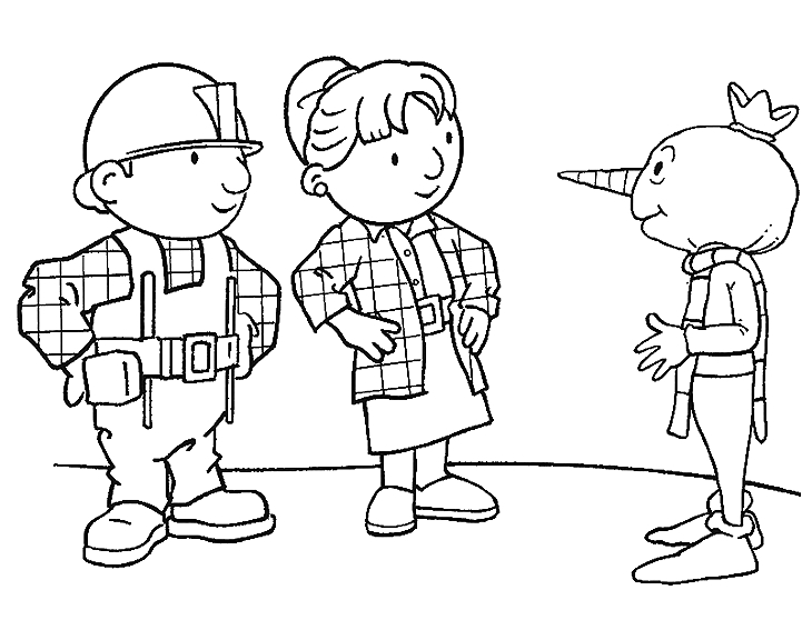 Bob the Builder Coloring Pages - Bob De Bouwer Kinder Kleurplaten