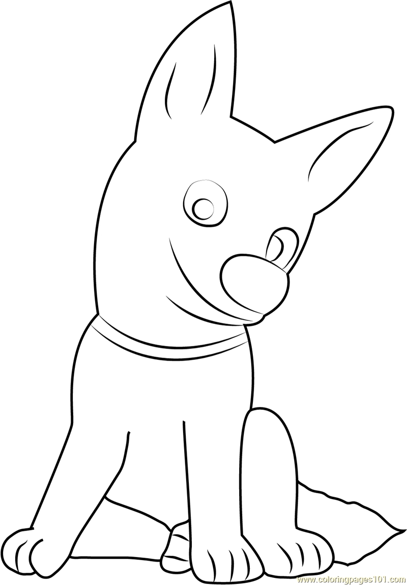 bolt coloring pages - bolt sitting