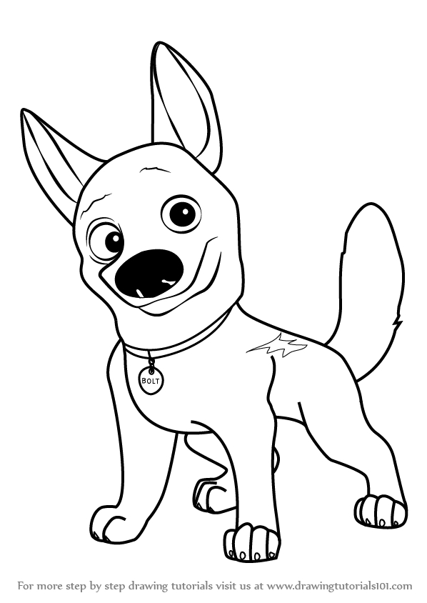 bolt coloring pages - pictures of bolt the dog
