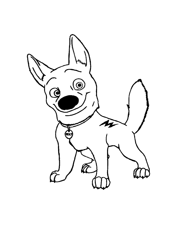 Beautiful Bolt Coloring Pages Disney Pictures
