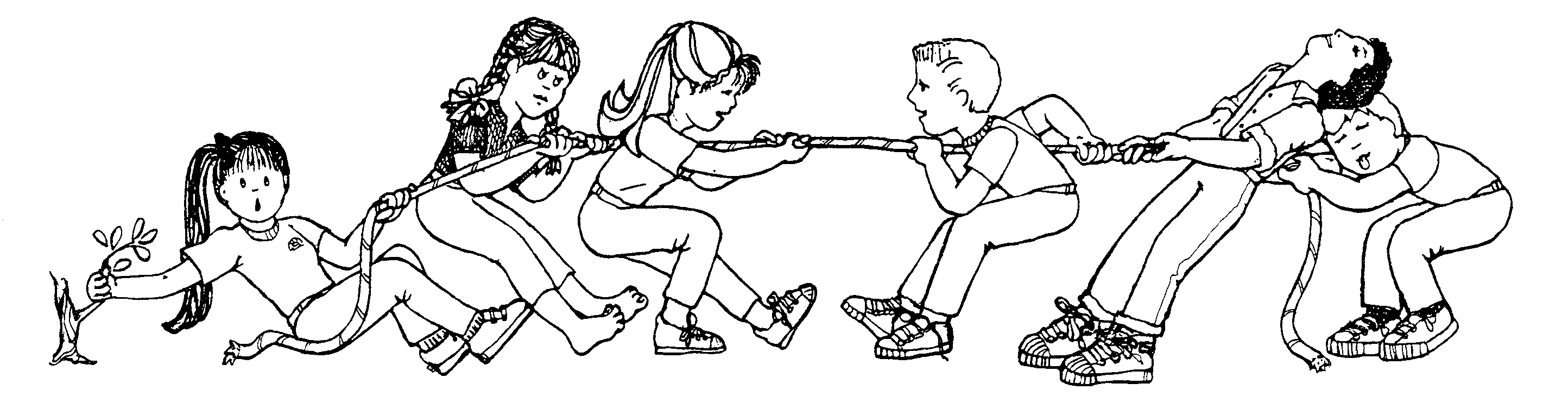 book of mormon coloring pages - tug o war