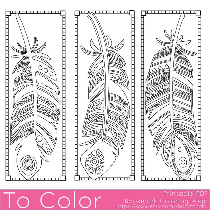 bookmark coloring pages - printable bookmarks