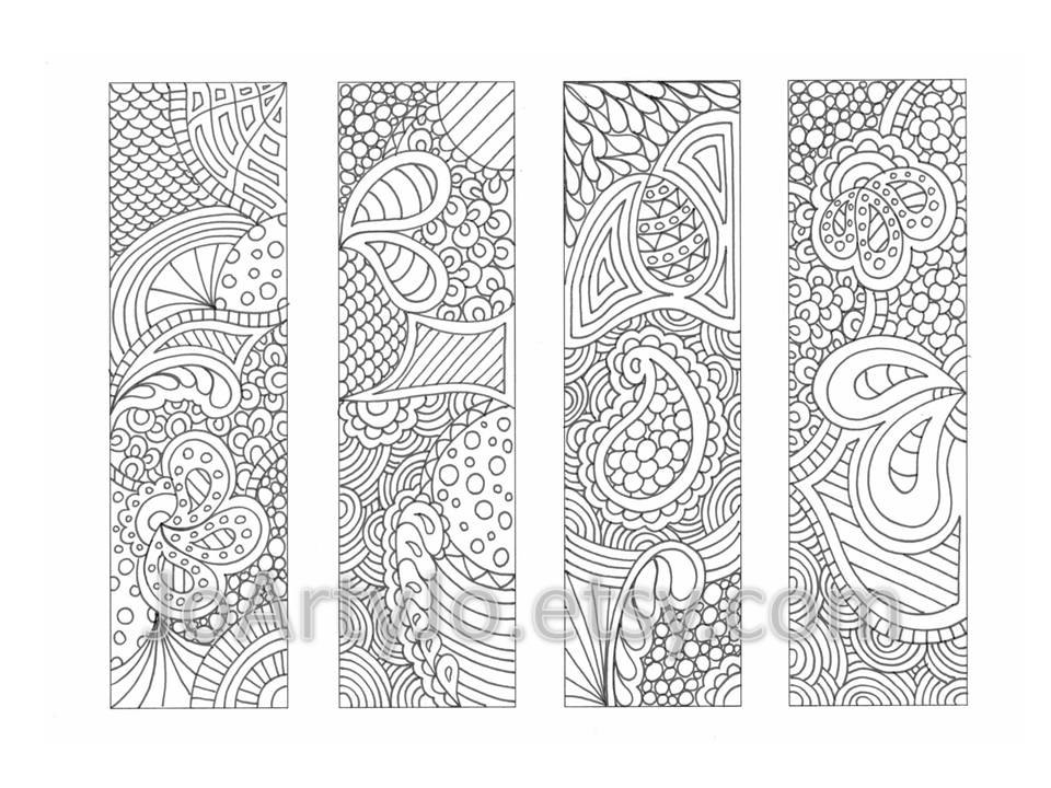 bookmark coloring pages - coloring page bookmarks zendoodle