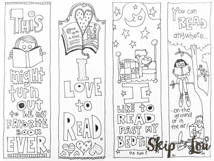bookmark coloring pages - free coloring bookmarks