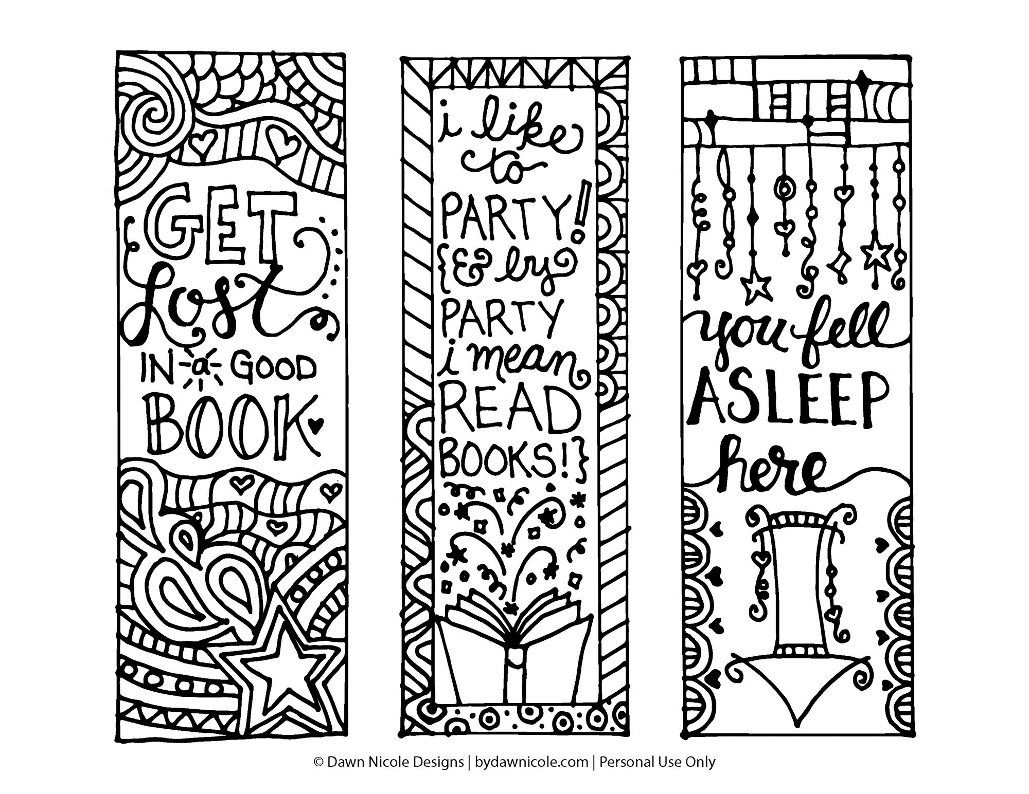 bookmark coloring pages - q=bookmarks